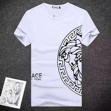 Versace  Men Fashion Casual Letter Print Shirt Top Tee