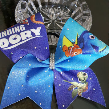Finding Dori Glitter Cheer Bow