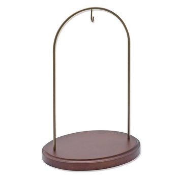 Large Walnut Finish Hanging Ornament Stand