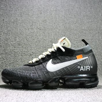 Nike 2018 Air Max Vapormax Flyknit Off-White ¡Á Vapormax Women Men Running Sport Casual
