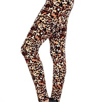 Leggings for Women Cheetah Leopard Animal Print, OS/PLUS