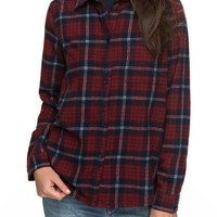 Roxy Heavy Feelings Plaid Shirt | Nordstrom