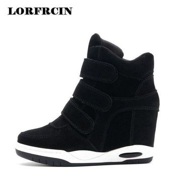 Hot sale Autumn Style Women Shoes Hidden Wedge Heels Boots Women's Elevator Shoes Casu