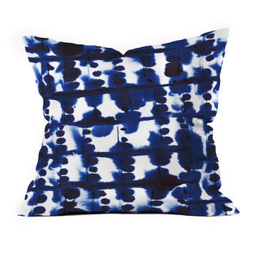 So into this design on Fab! Parallel Indigo Throw Pillow #FabForAll