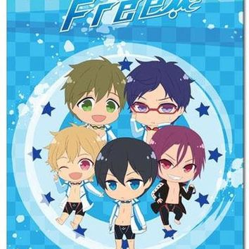 Free! Iwatobi Swim Club Group Sublimation Throw Blanket