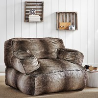 Grey Ombre Eco Lounger Speaker Media Chair