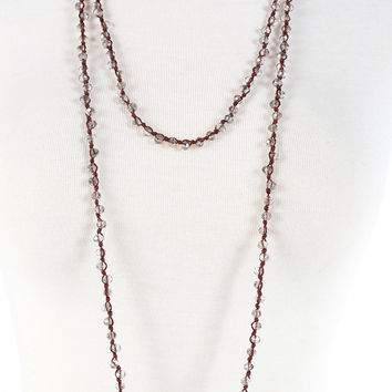 Mini Peyton Necklace - Grey