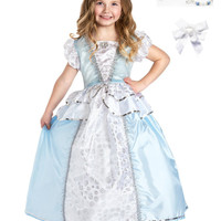 Little Adventures Cinderella Princess Dress Up with Necklace, Bracelet & Hairbow