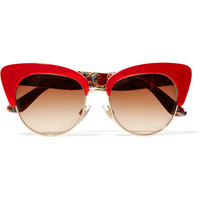 Dolce & Gabbana - Cat-eye gold-tone and acetate sunglasses