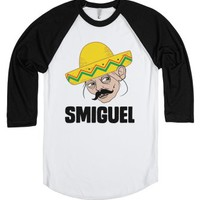 Smiguel-Unisex White/Black T-Shirt