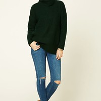 Boxy Turtle Neck Sweater