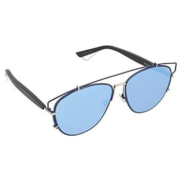 Dior PQU Blue Black Technologic Aviator Sunglasses