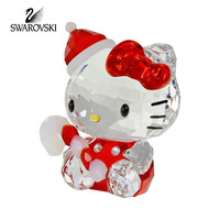 Swarovski Crystal Figurine Christmas HELLO KITTY SANTA #1142935