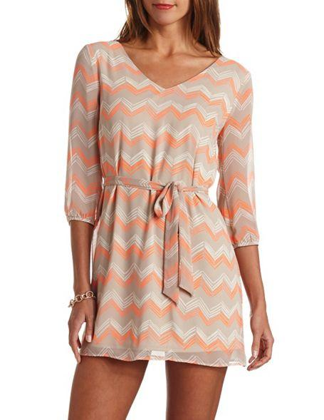 crochet back belted chevron dress from russe