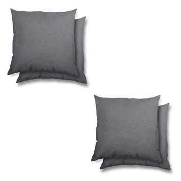 stratford home Indoor/ Outdoor Sunbrella Pillows Set (Charcoal)
