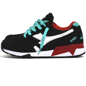 N9000 III Sneakers Black / Waterfall / Chili Pepper