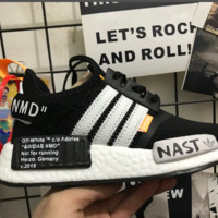 [Free Shipping] New Off -White  Adidas-NMD Not For Running  Sneaker