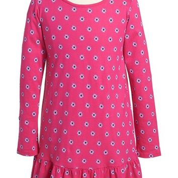 Girl's Tea Collection 'Cotoca' Long Sleeve Drop Waist Dress,