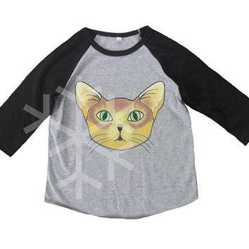 Abyssinian cat shirt kids toddler animal shirt- 3/4 sleeve tshirt -Raglan shirt- Baseball tshirt -Kids tshirts