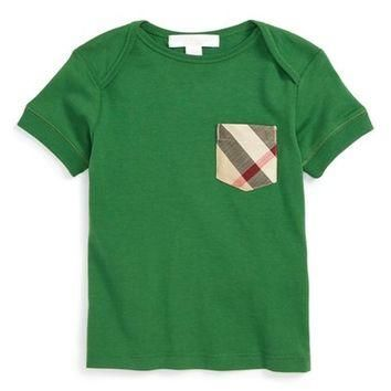 Burberry 'Callum' Check Print Chest Pocket T-Shirt (Baby Boys) | Nordstrom