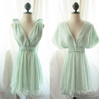 Marie Antoinette Mint Green Dress Dreamy Soft by RiverOfRomansk