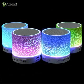 Column LED Mini Wireless Bluetooth Speaker TF USB FM Portable Music Loudspeakers Hand-free call For