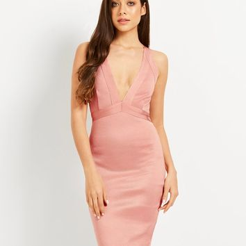 Wow Couture Plunging Bandage Dress