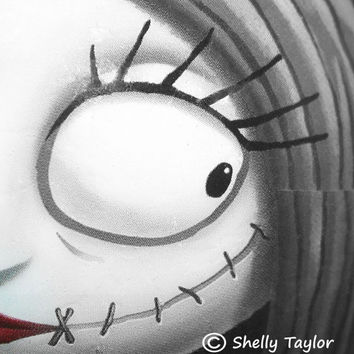 Fine Art Photography, Sally from Nightmare Before Christmas - Black and White, Gothic, Spooky, Halloween, Abstract, Wall Hanging, Home Decor