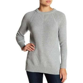 1.State Women's Long Sleeve Multi-Knit Sweater