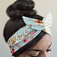 Vintage Lace Style Dolly Bow head band