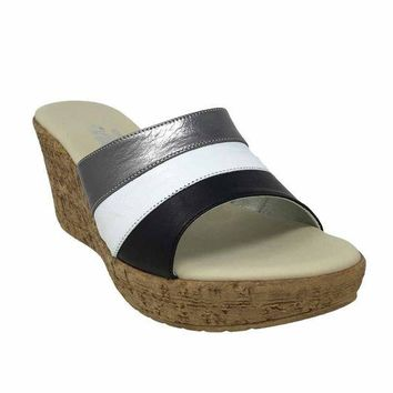 DCCKAB3 Onex Balero Black Multi High Heel Wedge Sandals