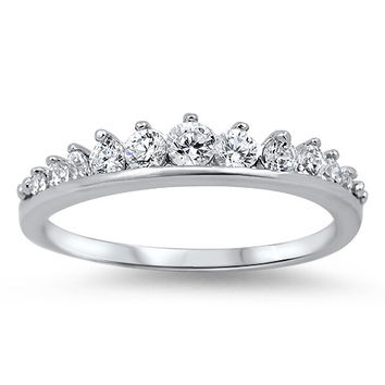 A Perfect 4TCW Round Cut Russian Lab Diamond Wedding Band Ring
