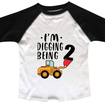 I'm Digging 2 Being BOYS OR GIRLS BASEBALL 3/4 SLEEVE RAGLAN - VERY SOFT TRENDY SHIRT B994