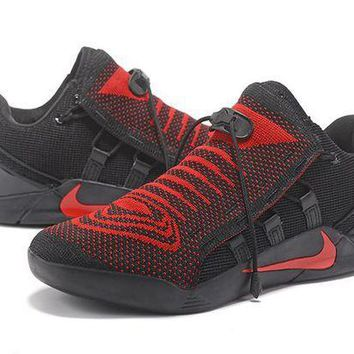 PEAPON3A VAWA Nike Zoom Men's Kobe 12 A.D.NXT Knit Basketball Shoes Black Red