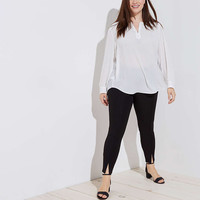 LOFT Plus Front Slit Leggings | LOFT