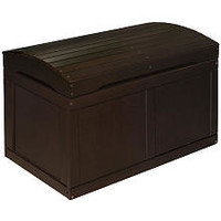 Badger Basket Barrel Top Toy Chest - Espresso