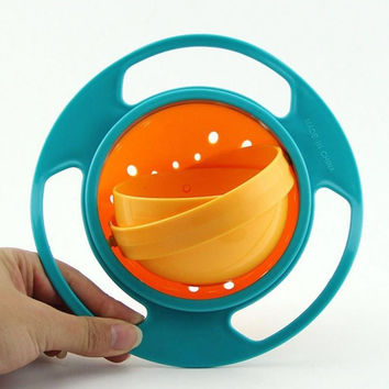 Children Kid Baby Toy Prato Universal 360 Rotate Spill-Proof Bowl Dish Baby Dishes Kids Dinner Plate Free shipping
