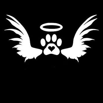 In Memory Of Dog Paw Print  Vinyl Car/Laptop/Window/Wall Decal