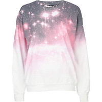 pink cosmic print sweat top