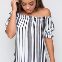 Gillian Off The Shoulder Top - Black