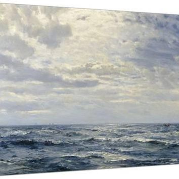 Off the Coast of Cornwall Stretched Canvas Print by Henry Moore at Art.com