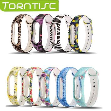 Torntisc In Stock! Fashional Multi-colors Waterproof Smart Wristband Replacement Accessories For Xiaomi Mi Smart Wristband 2