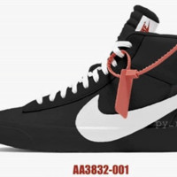 BC AUGUAU Nike Blazer Off-White Virgil Abloh Black White Part 2 AA3832-001 2018 PRE ORDER