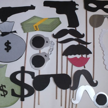 Photo booth props: ROBBERS
