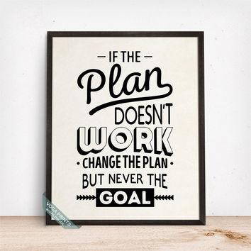 If The Plan Doesnt Work Print, Typography Poster, Wall Print, Motivational Decor, Inspirational Quote, Home Decor, Fathers Day Gift