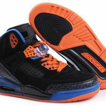 Hot Nike Air Jordan 3.5 Spizike Suede Women Shoes Black Orange