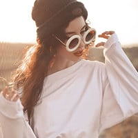 Retro 1950's Women's Fashion Donuts Round Retro Sunglasses