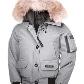 Canada goose chilliwack bomber winter WOMEN Down jacket/gray