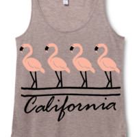 Vintage California Flamingo Festival Tank Top