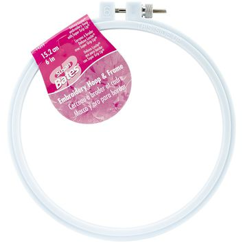 "Size 6"" Bates Plastic Embroidery Hoop - Light Blue"